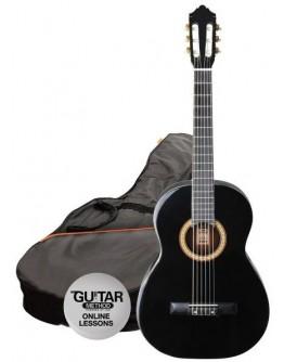 Guitarra Cássica 4/4 Preta Ashton SPCG44BK