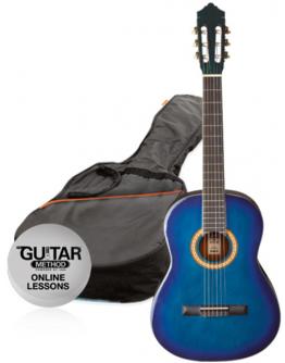 Guitarra Clássica 4/4 Blue Burst Ashton SPCG44TTB