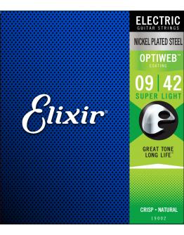 Jogo Cordas Guitarra Elétrica 09|42 Elixir Optiweb