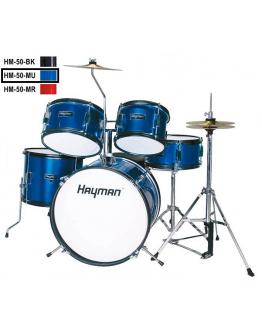 Bateria Júnior Hayman HM-50-MU (Azul Metálico)