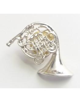 Pin Trompa Prateado 2.5cm