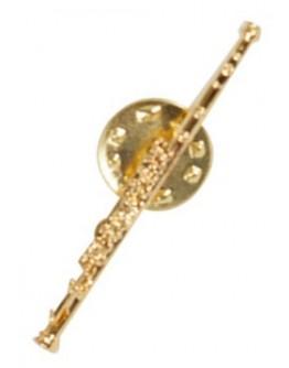Pin Flauta Transversal Dourado 4cm