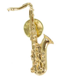 Pin Saxofone Tenor Dourado 4.5cm
