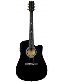 Guitarra Acústica Eletrificada Squier SA-105CE BK