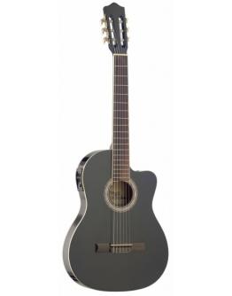 Guitarra Clássica Eletrificada Stagg C546TCE-BK (Slim)