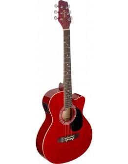 Guitarra Acústica Eletrificada Stagg SA20ACE RED