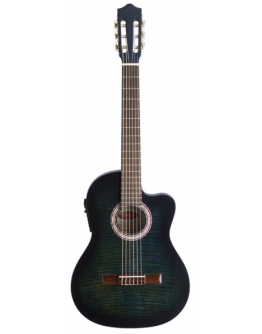 Guitarra Clássica Eletrificada Stagg C546TCE-BLS (Slim)
