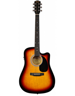 Guitarra Acústica Eletrificada Squier SA-105CE Sunburst