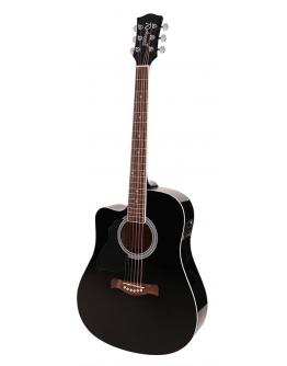 Guitarra Acústica Eletrificada Esquerdino Richwood RD-12LCEBK