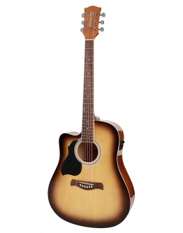 Guitarra Acústica Eletrificada Esquerdino Richwood RD-12LCESB