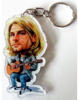 Porta-Chaves Caricatura Kurt Cobain - Nirvana (1)
